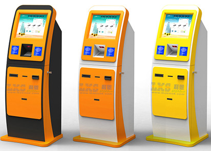 High Safety Performance Bill Payment Kiosk With Card Scanner / Standalone Kiosk