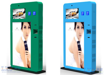Indoor Touch Screen LCD Self Service Payment Kiosk With 58mm Kiosk Printer
