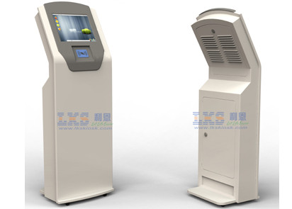 Customized 8 Inch to 65 Inch Shopping Mall Free Standing Kiosk With RFID Card Reader