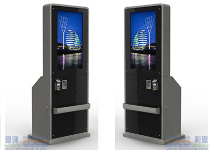 3G Wifi Full HD Digital Signage Displays Free Standing Kiosk Touch Screen