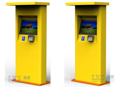 Hight Brightness Outdoor Free Standing Multi Touch Kiosk For Self Service Use