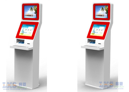 17inch Touch Screen Dual Screen LCD Monitor Self Service Information Kiosk