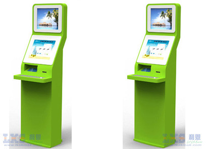 17 Inch Handicapped Check In Kiosk With Hydraumatic Elevator Metal Keyboard