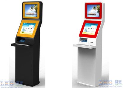 Keyboard Dual Screen Kiosk With LCD Touch Screen Computer Internet Kiosk