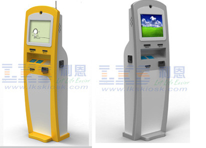 Freestanding Tnformation Check in Hotel Kiosk Terminal , Tourism Kiosk Touch Screen