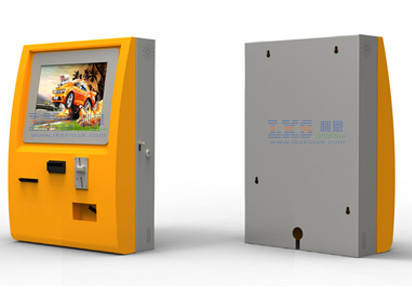 Touch Screen Ticket Vending Machine Wall Mounted Kiosk With Bankcard RFID Card Reader