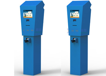 10.4 Inch Barcode Reader Lobby Self-service Terminal Kiosk , Automatic Ticket Vending Machines