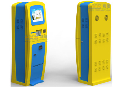 Gambling House Token / Card Dispenser Kiosk Bill And Banking Card Payment