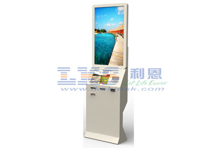 Dual Screen Self-checkin Systems Kiosk With Industrial Fanless Mini PC